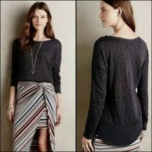 Anthropologie deletta nubby circle tee sweater